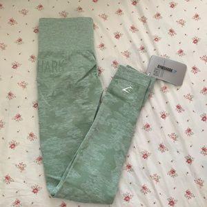 Gymshark camo seamless leggings in camo green